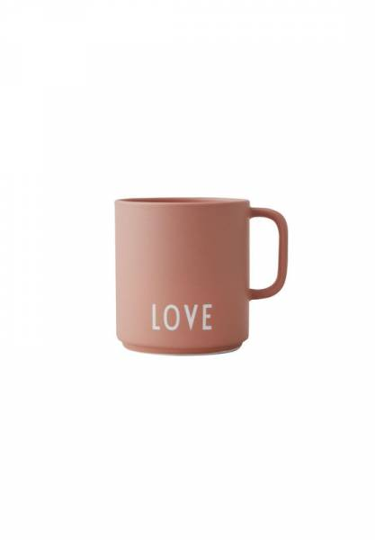 Lieblingsbecher mit Henkel LOVE rosa