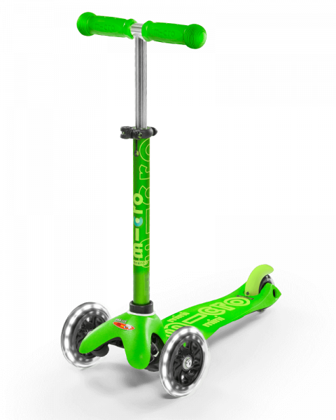 mini micro deluxe LED grün Roller Scooter
