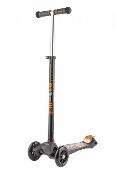 maxi micro Deluxe Roller Scooter - schwarz - T-Lenkstange