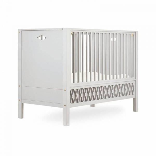 Harlekin Baby Bett, Kopfteil geschlossen 60 x 120 cm