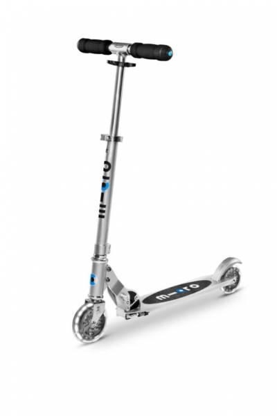 Sprite LED Scooter Roller Silber