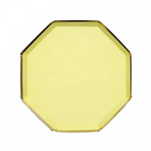 Pappteller Mittel - Pale Yellow Side Plates