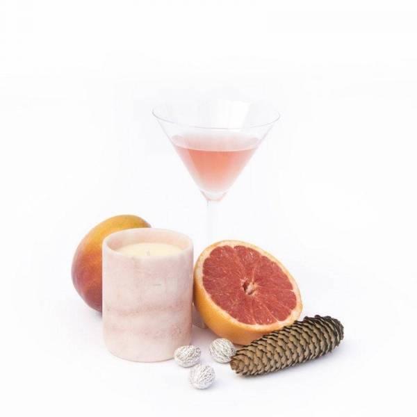 Duftkerze - Marmor pink