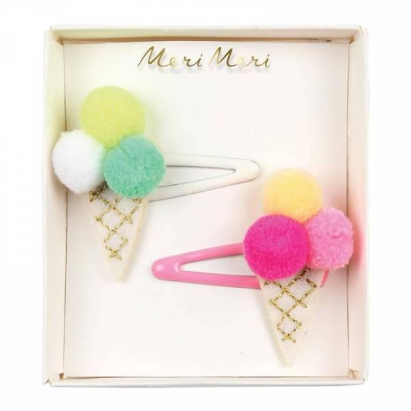 Pom Pom Icecream Haarspange