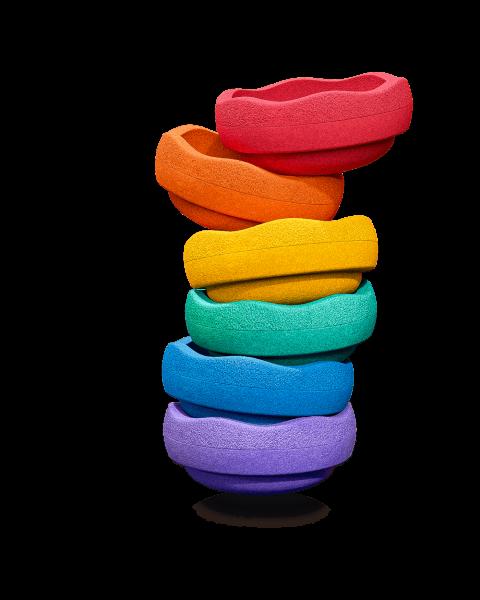 Stapelstein Regenbogen Basic 6er Set NEU