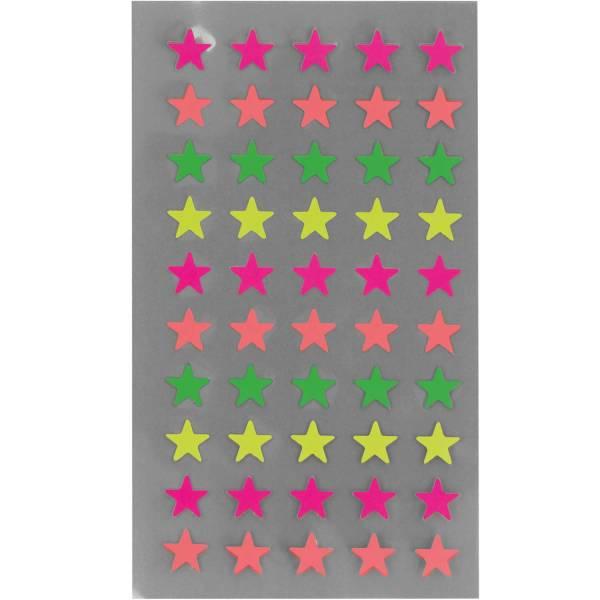 Sticker Neon-Sterne S klein
