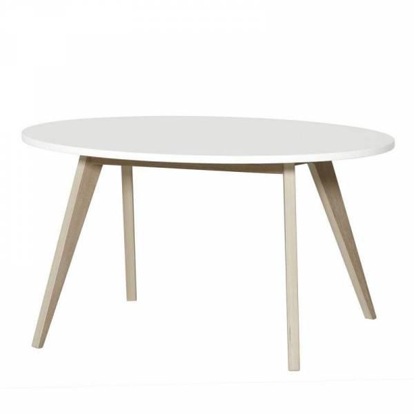 Wood PingPong Tisch, weiß/Eiche