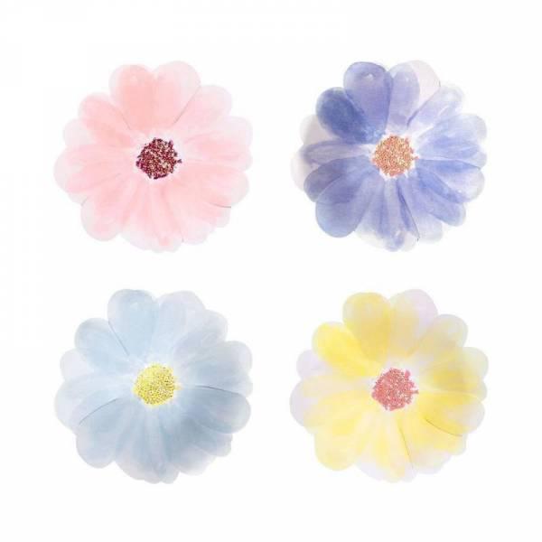 Pappteller - klein - Blumen