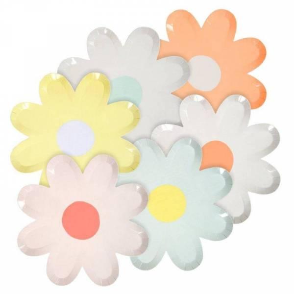 Pastel Pappteller Gänseblümchen