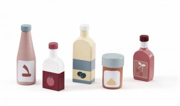 Flaschen und Getränkepackungen aus Holz - 5-teilig