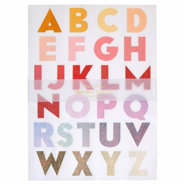 Alphabet-Sticker Ombre Large