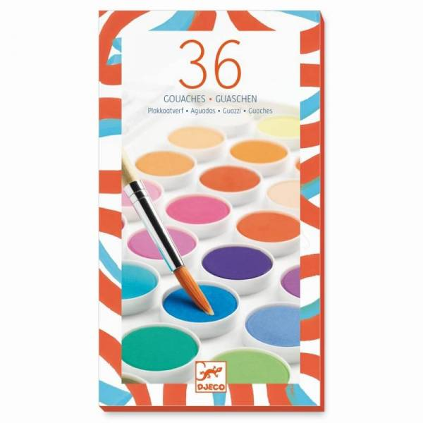 Großer Malkasten mit 36 Farben - Wasserfarben