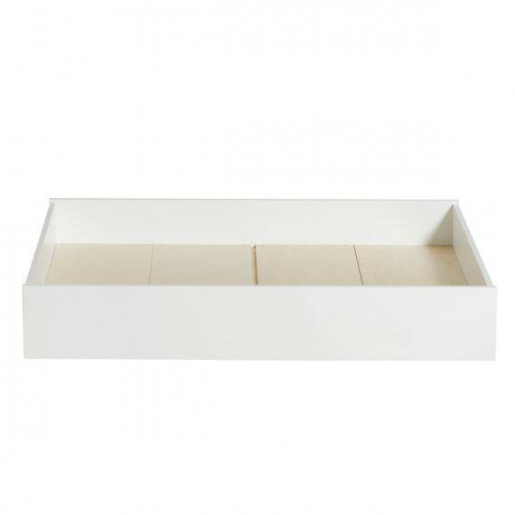 Wood Bettschublade, weiß