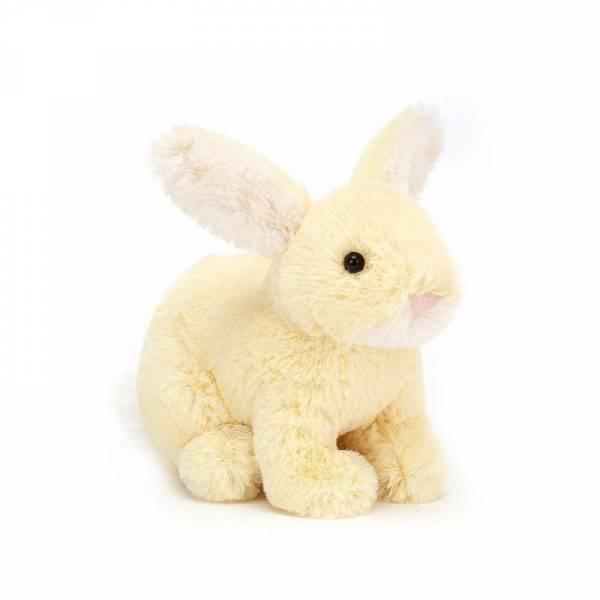 Stofftier Hase Minilop Bunny - H10cm - gelb