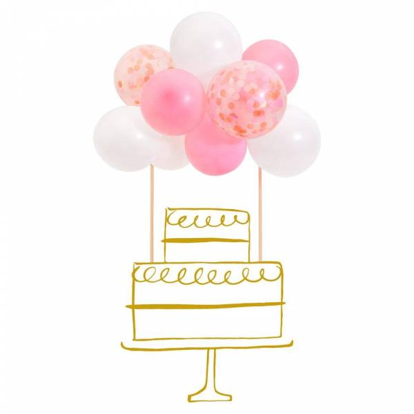 Pink Ballon Cake Topper