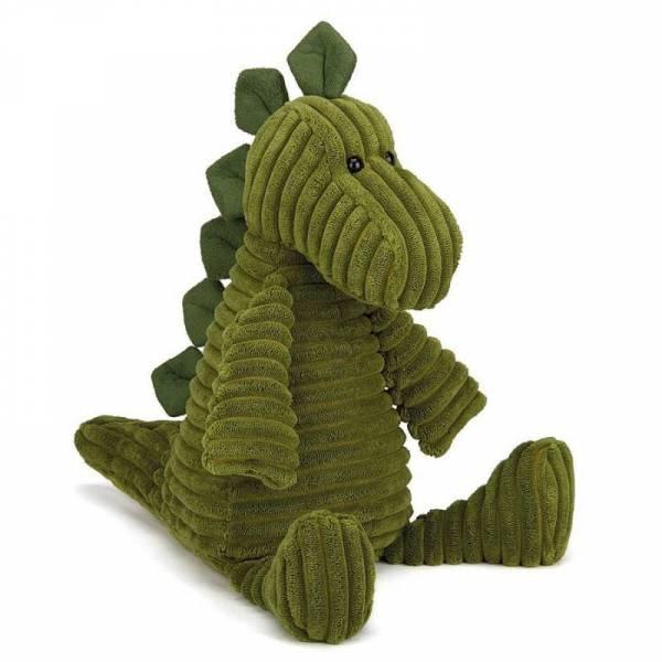 Stofftier Dino Cordy Roy Breitcord medium - H38cm - grün