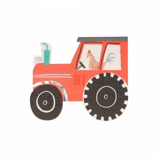 Servietten Bauernhof Traktor