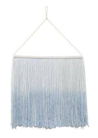 Wanddeko Wall Hanging Tie Dye - Soft blue
