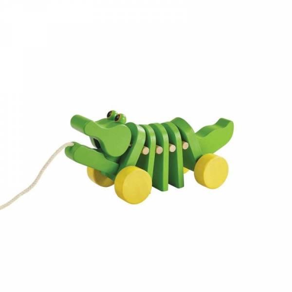 Tanzendes Krokodil Nachziehtier grün