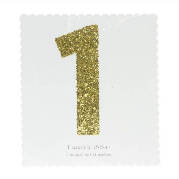 Glitter Number Sticker