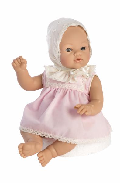 Babypuppe Koke Rosa Kleidchen 35cm
