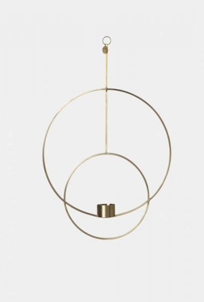 Hanging Tealight Deco - Circular - Brass