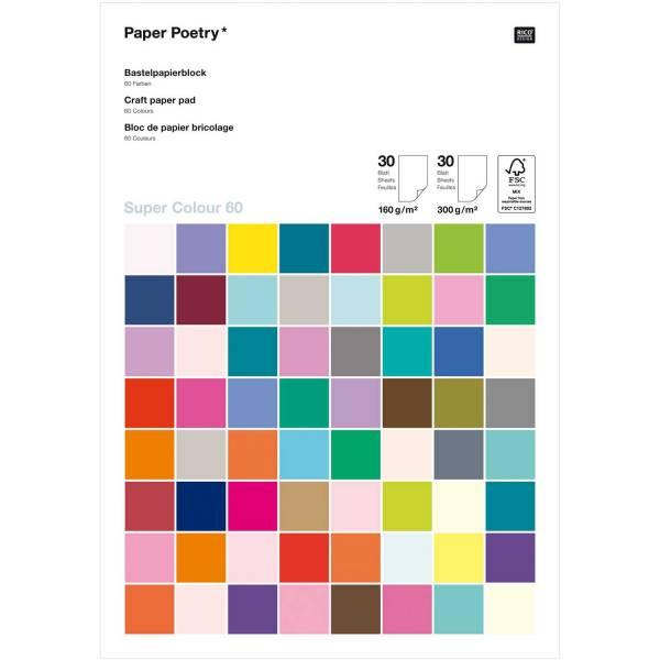Super Colour Bastelblock Super DIN A4 60 Blatt