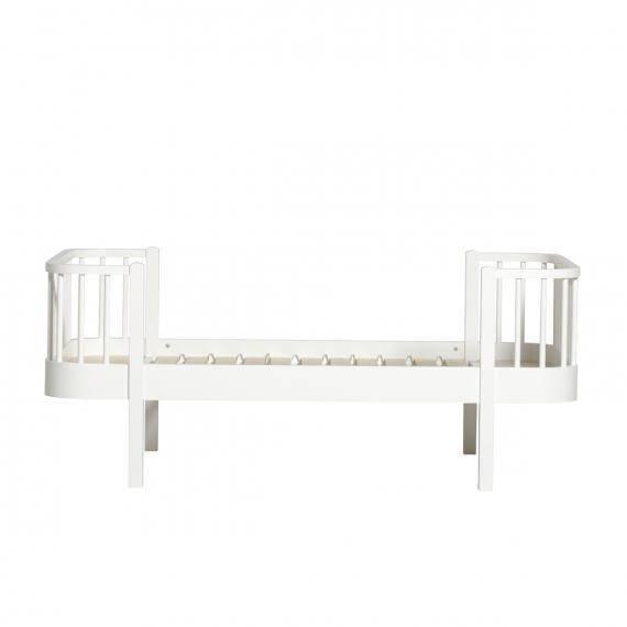 Wood Junior- und Kinderbett, 90x160 cm, weiß