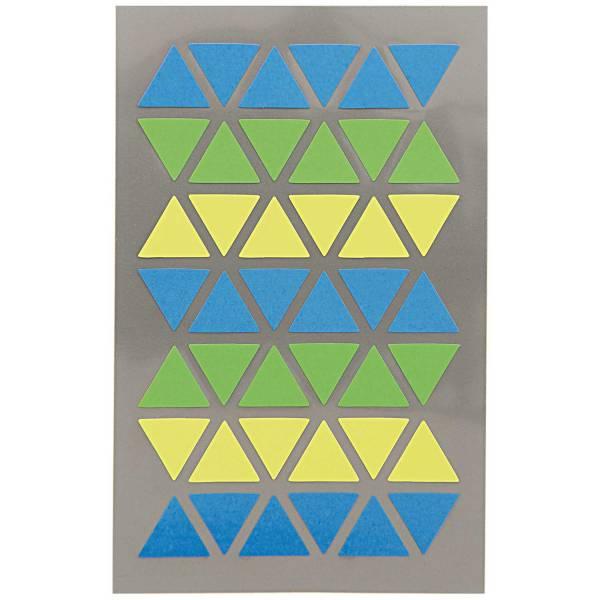 Sticker Dreieck Blau/Grün 4 Blatt 9,5x19cm