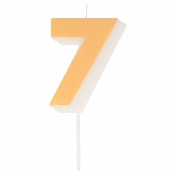 Geburtstagskerze Zahl 7 - peach