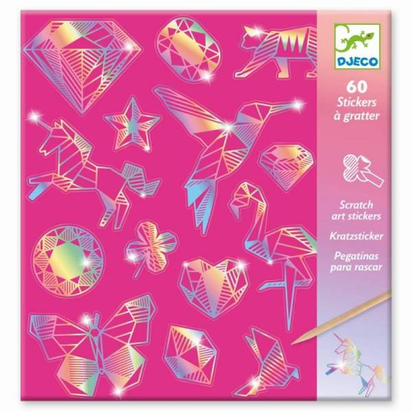 Kratzbilder: Sticker Diamant