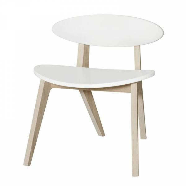 Wood PingPong Stuhl, weiß/Eiche