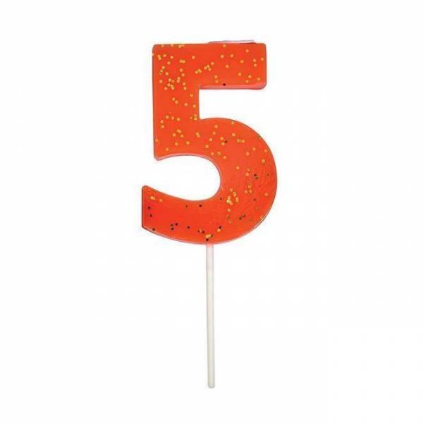 Geburtstagskerze Zahl 5 - coral