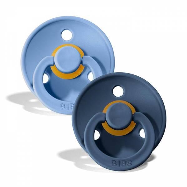Schnuller 2er Pack Sky blue & Steel blue