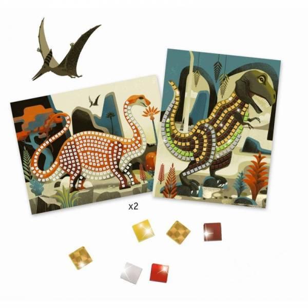 Mosaik: Metallische Dinosaurier