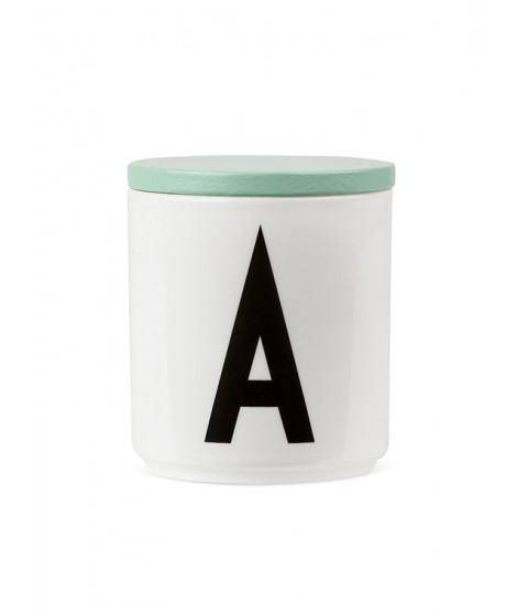 AJ Holzdeckel für Porzelanbecher - mintgrün