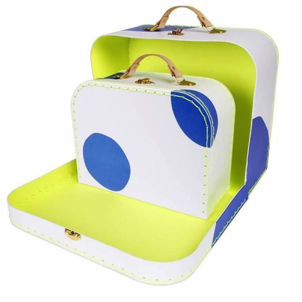 Koffers aus Karton - 2er Set - blau
