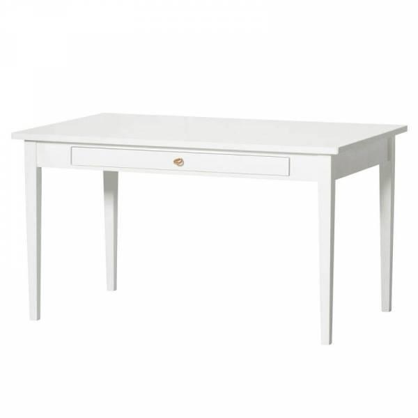 Seaside Junior Schreibtisch (mit Lederband), weiß