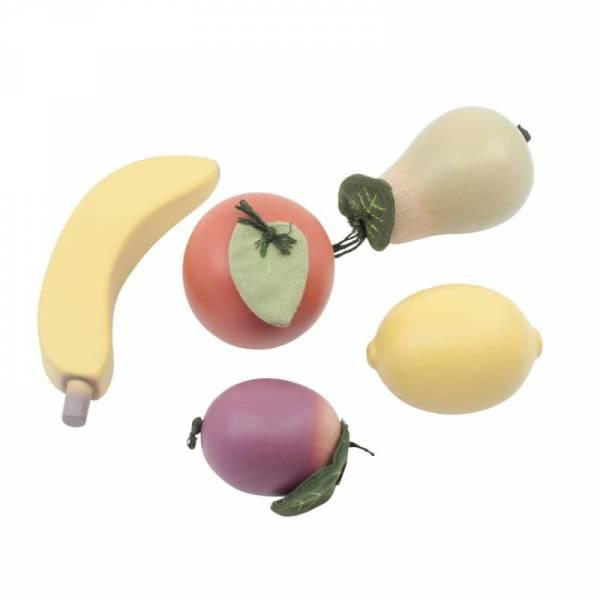 Obst-Set Holz
