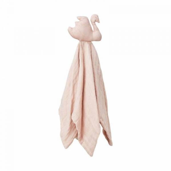 Kuscheltuch Schwan - blossom pink