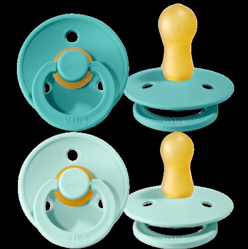 Schnuller 2er Pack turquoise & mint