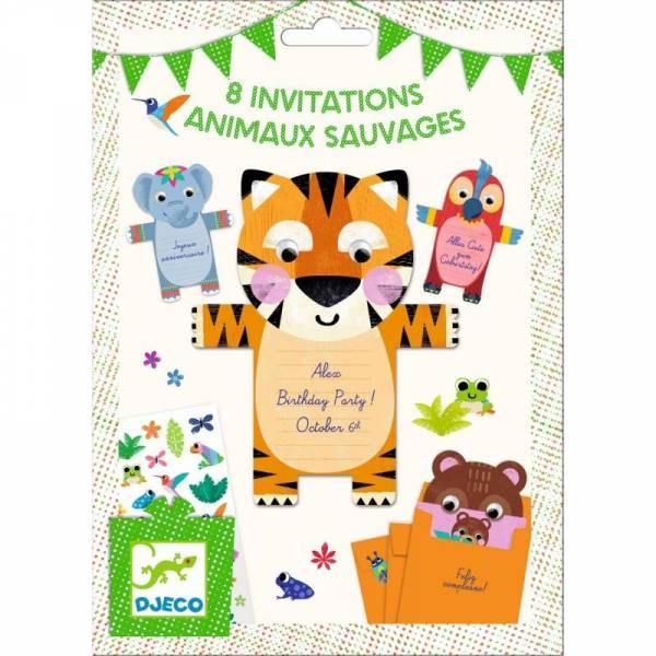 Geburtstag: Wild animals Einladungskarten