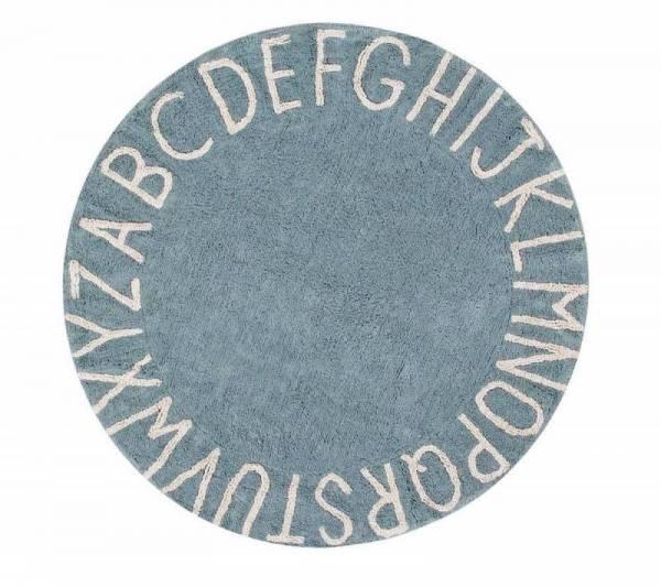 Teppich, Round ABC Ø150cm blue