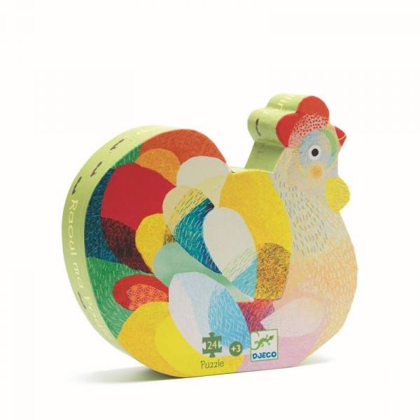 Silhouette Puzzle Henne - 24 Teile