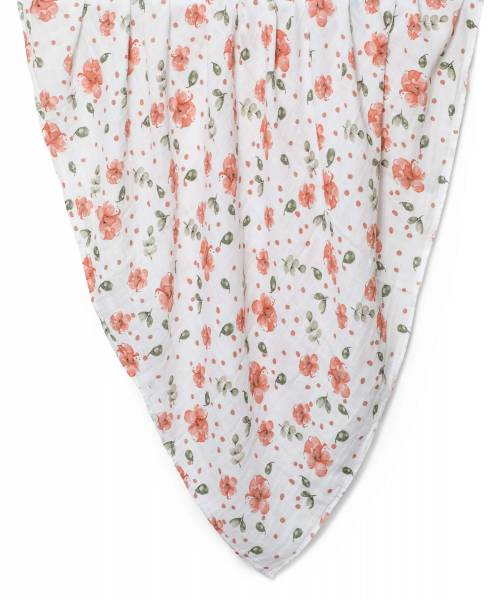 XXL Mulltuch aus Bio-Baumwolle Vintage Rose 120 x 120 cm