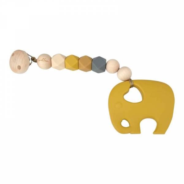 Beisskette Elefant Mustard