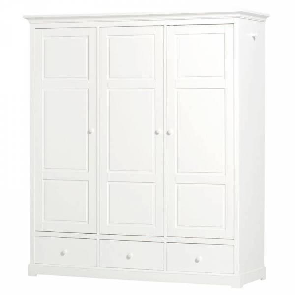 Seaside Kleiderschrank, 3-türig, weiß