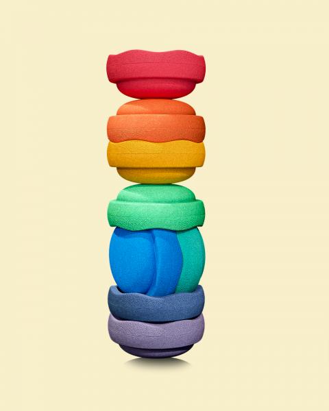 Stapelsteine Regenbogen Great 8er Set