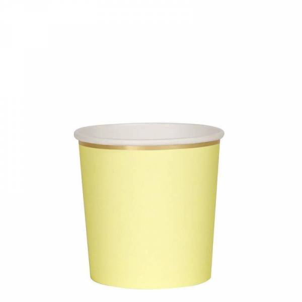 Pappbecher - Pale Yellow Tumbler Cups