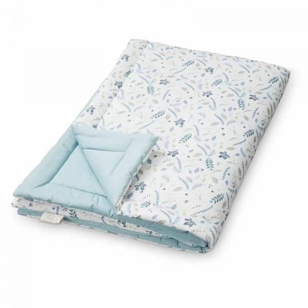 Wattierte Decke 120x180cm - Pressed Leaves Blue